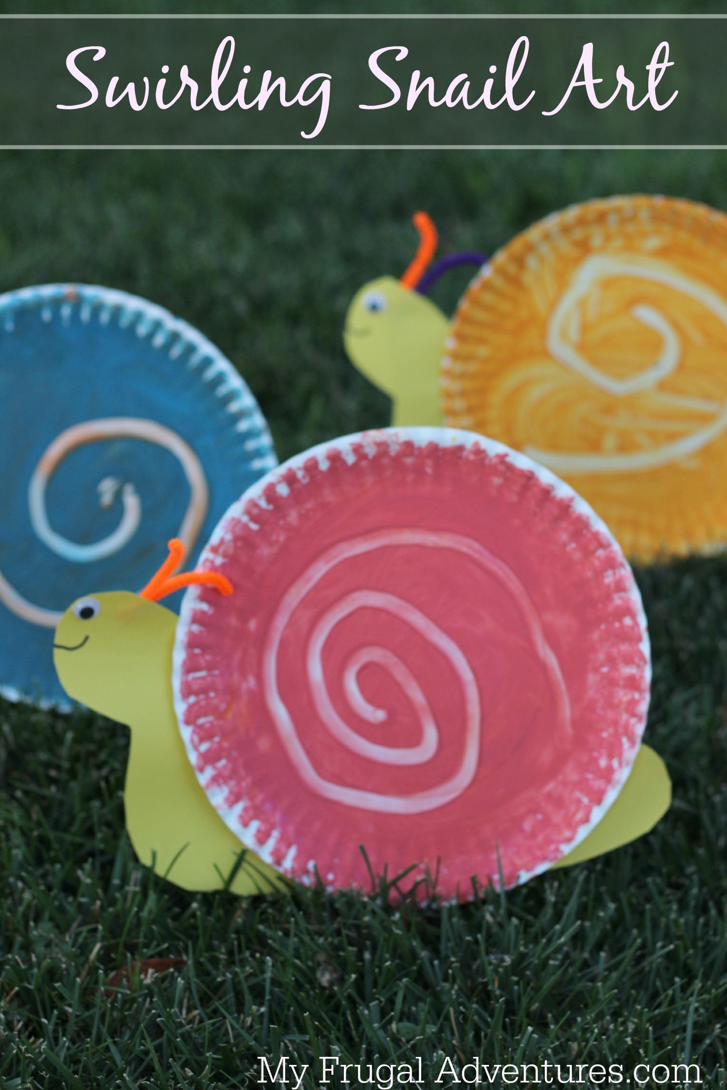 Easy Children S Craft Swirling Snail Art