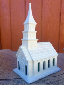 Ceramic Light Up Church Small In Ashland City TN A ROSE