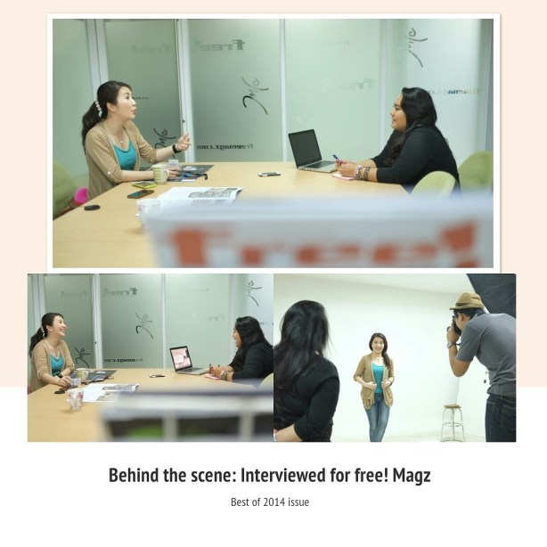 Behind The Scene Interviewed with free Magz by Myfunfoodiary