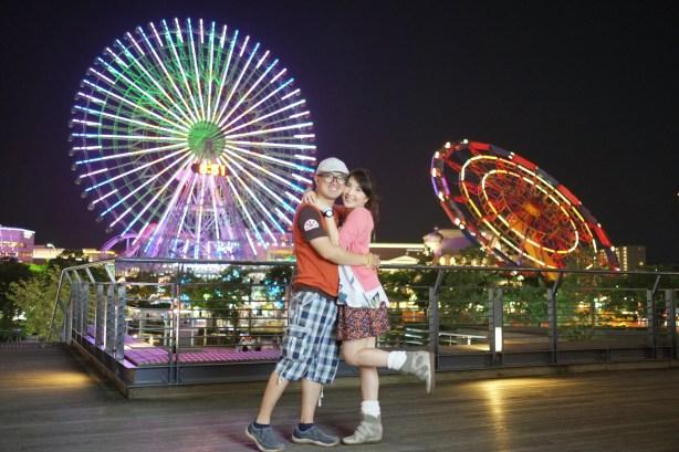 Mullie and Andy at Minato Mirai, Tokyo - Japan