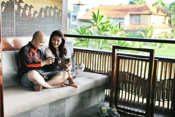 Mullie and Andy quality time at Alaya Resort Ubud