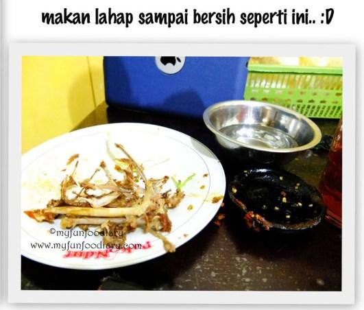 Lahap Makan sampai bersih :p