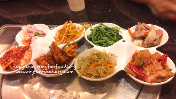 complete set free side dishes Han Gang