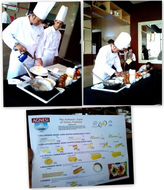 Demo Chef Sedang Membuat Pasta