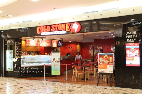 Tampak depan outlet Cold Stone Senayan City