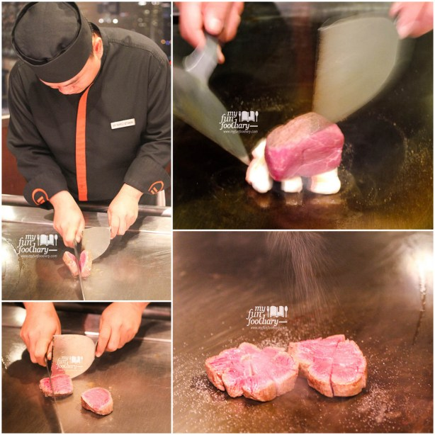 The Process of cooking the Wagyu