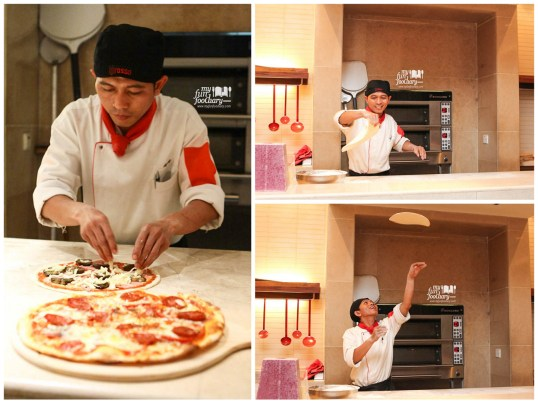 acrobatic pizza at Rosso
