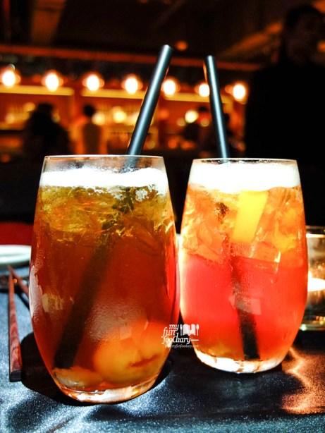 Ice Lychee Tea & Ice Peach Tea