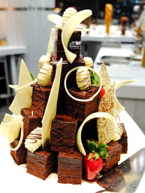 Tower of Chocolate Cakes