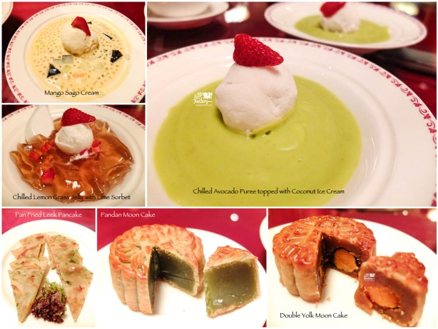 Various Dessert at Shang Palace