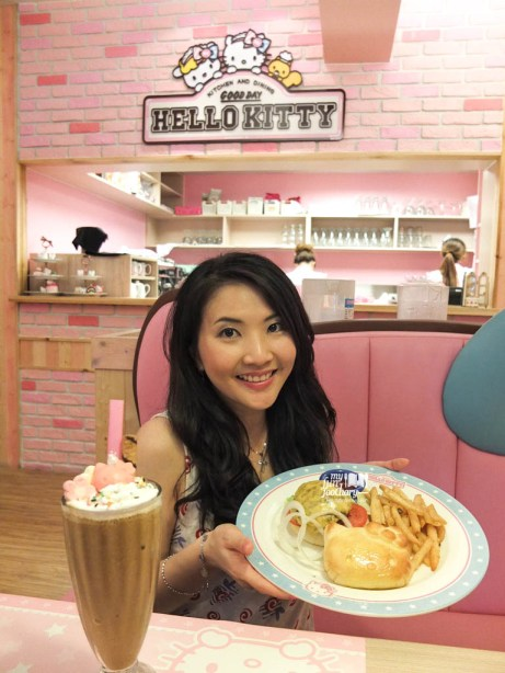 Me myself with Hello Kitty Beef Burger