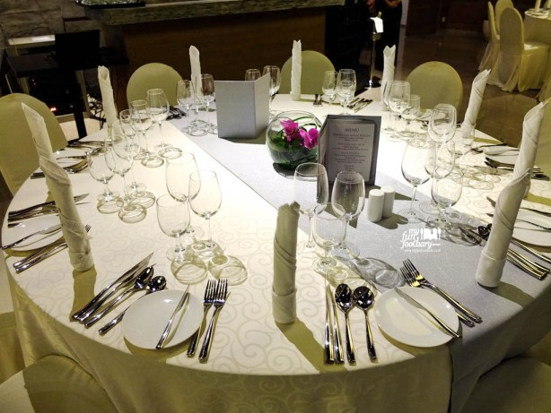Table Set for Guest Chef Dinner