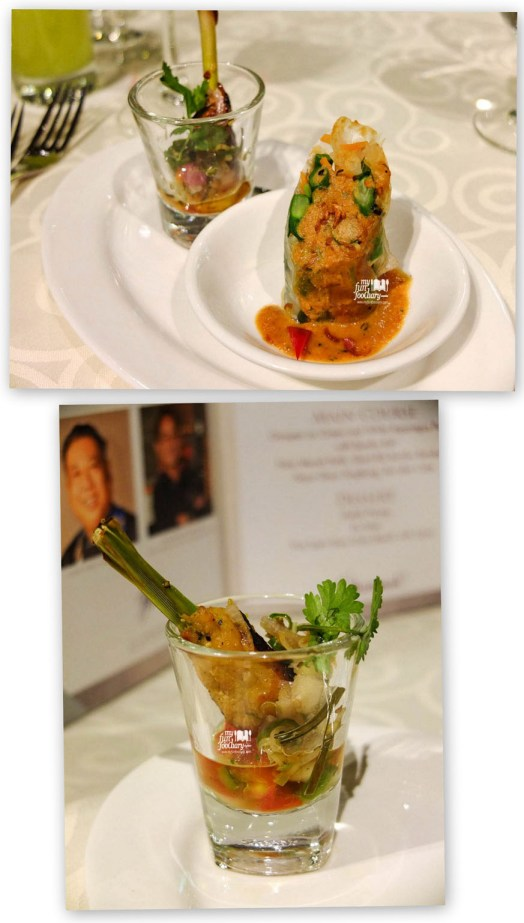 Gado Gado Wrapped in Rice Paper and Balinese Satay Lilit