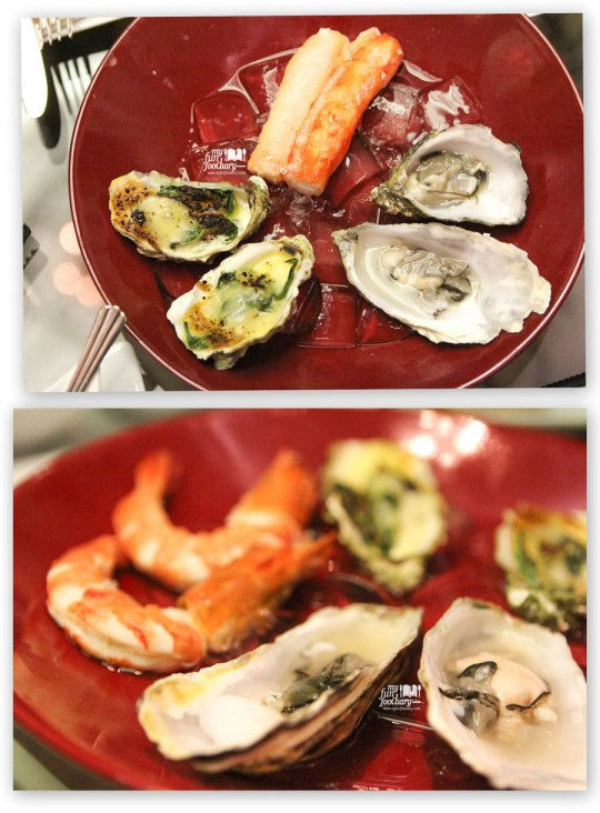 Oyster and Alaskan King Crab