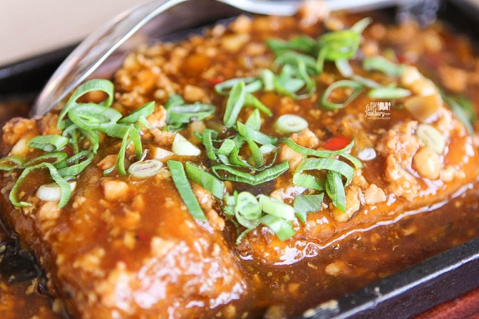 Hot Plate Tofu with Preserved Cai Xin and Minced Pork