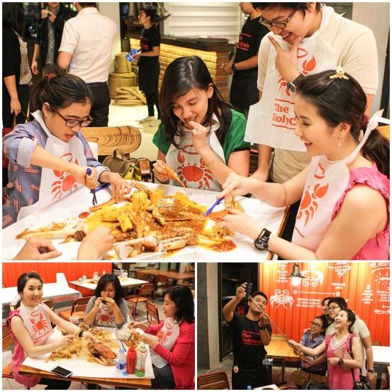 Keseruan makan Kepiting di Holy Crab