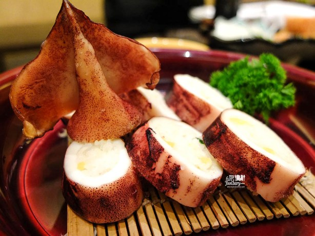Grilled Whole Squid in Sushi Rice