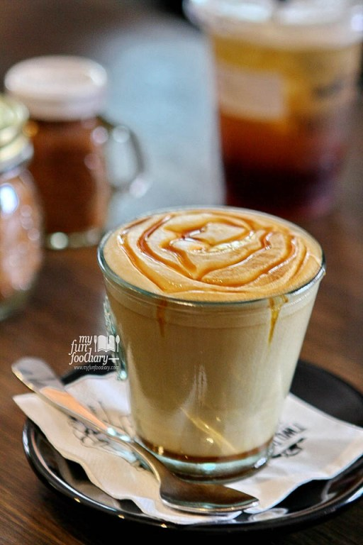 Caramel Latte Machiato at Two Cents Coffee - by Myfunfoodiary