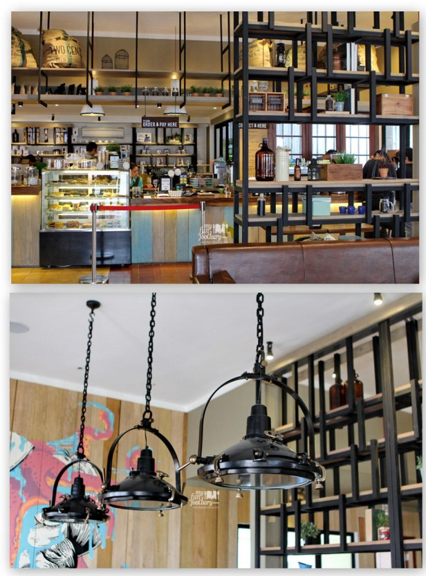Suasana Indoor Two Cents Coffee - by myfunfoodiary
