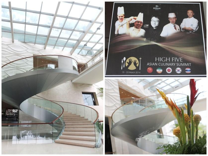 360 degree Staircase at Hilton Bandung by Myfunfoodiary