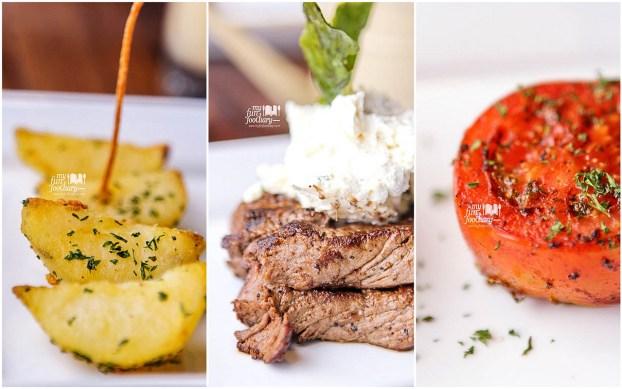 Grilled Steak Cheese Cream Boka Buka Resto Street Gallery PIM by Myfunfoodiary - collage