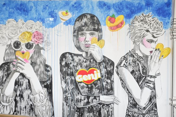Mural Painting Genji Shoppe Pop Up Store by Myfunfoodiary