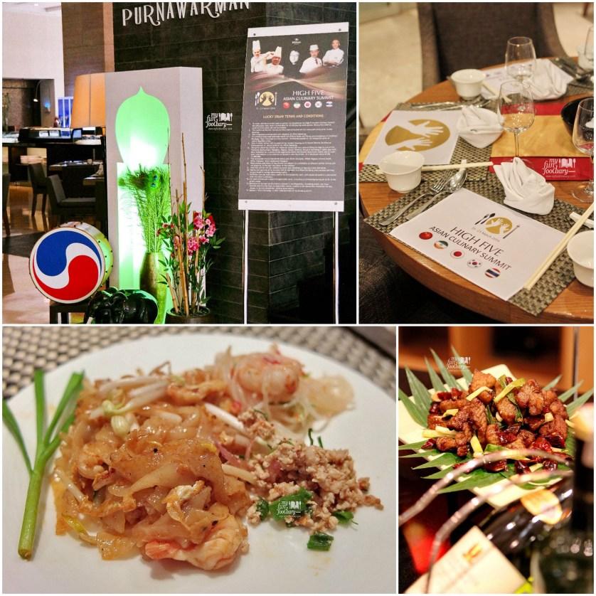 Pad Thai and Table Set Asian Culinary Summit at at Purnawarman Restaurant Hilton Bandung by Myfunfoodiary