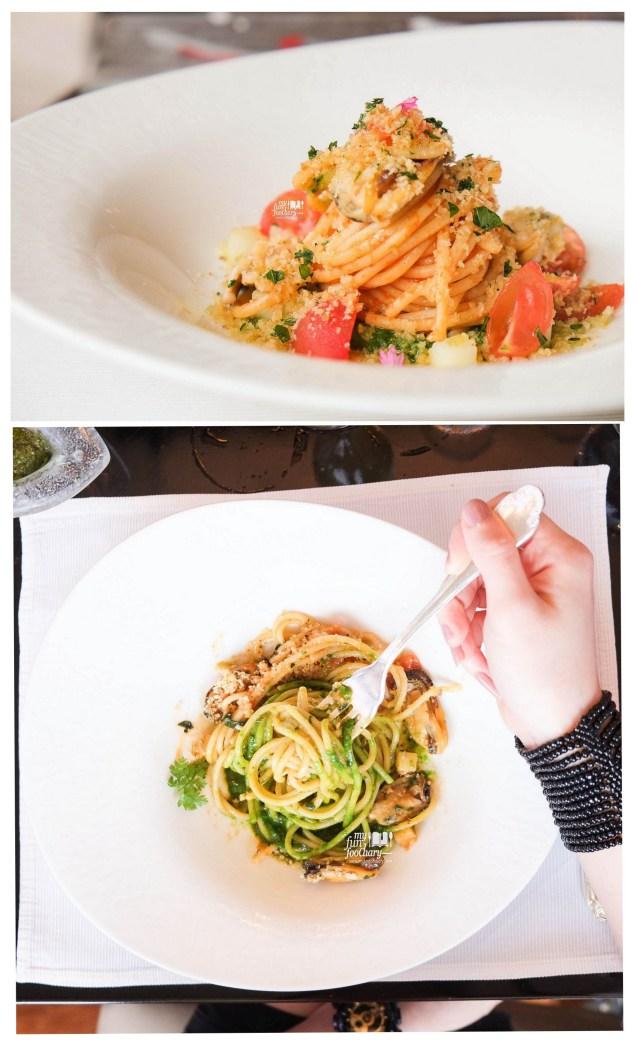 Pasta Spaghetti Che Cozze e Muddica at Rosso Shangri-La Jakarta Chef Paolo Best Dish by Myfunfoodiary all