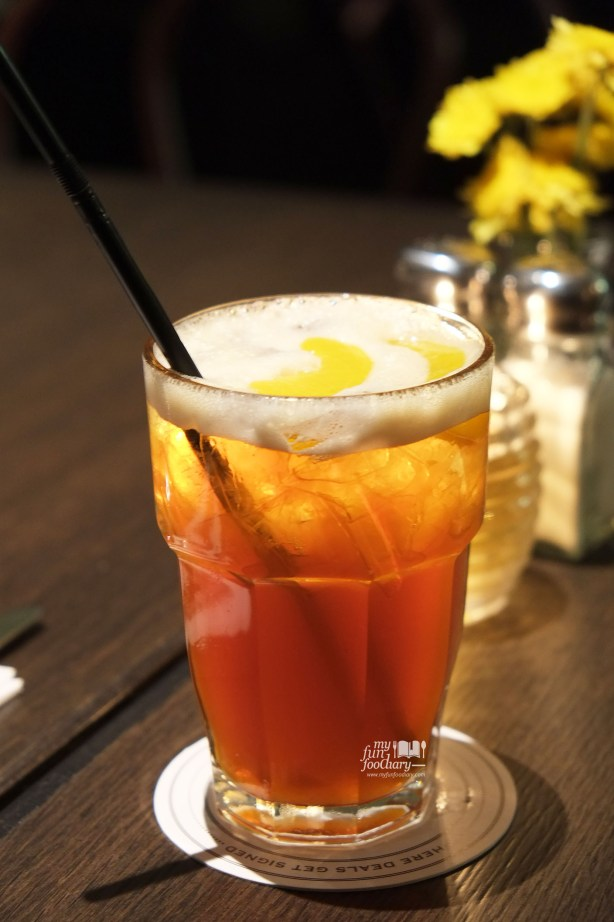 Peach Iced Tea at Immigrant Dining Room by Myfunfoodiary