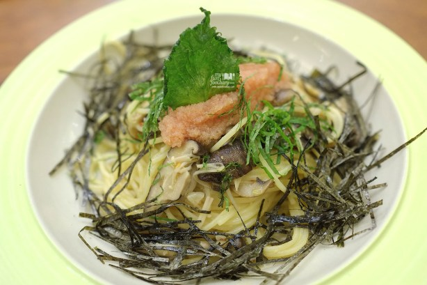 Spaghettini in Garlic Oil with Spicy Cod Roe & Japanese Mushrooms AW Kitchen by Akira Watanabe - by Myfunfoodiary 02