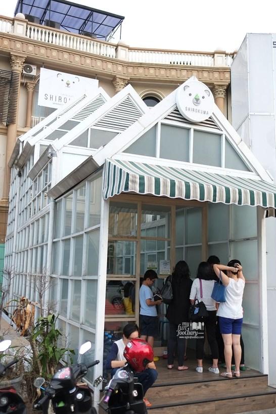 Tampak Antrian di Shirokuma Japanese Dessert Cafe PIK by Myfunfoodiary