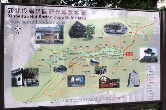 Xinbeitou Hot Springs Guide Map by Myfunfoodiary