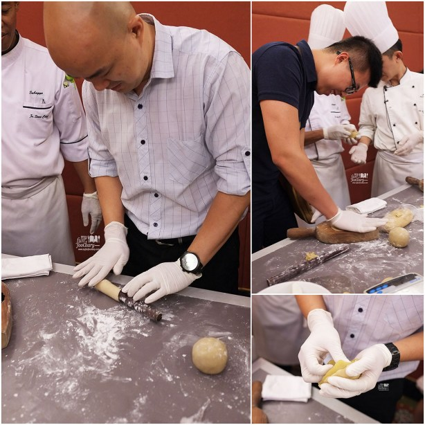 Andy and Ian are making the moon cake at JW Marriott Jakarta by Myfunfoodiary