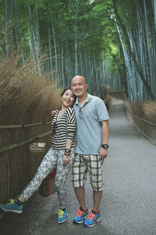 Together at Arashiyama Bamboo Grove - Kyoto by Myfunfoodiary