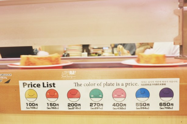 Sushi Price List at Premium Sushi Train Kaio Sushi by Myfunfoodiary