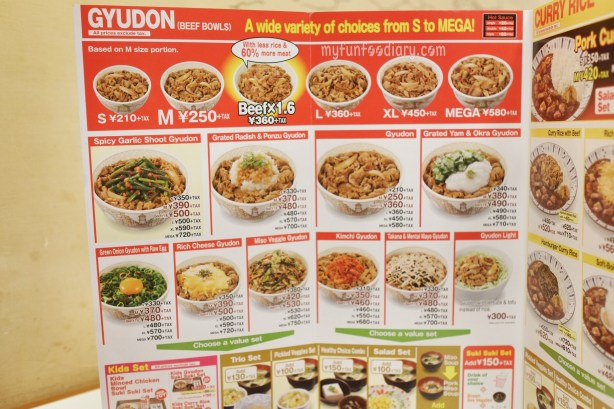 Gyudon Menu at Sukiya Gyudon Japan by Myfunfoodiary