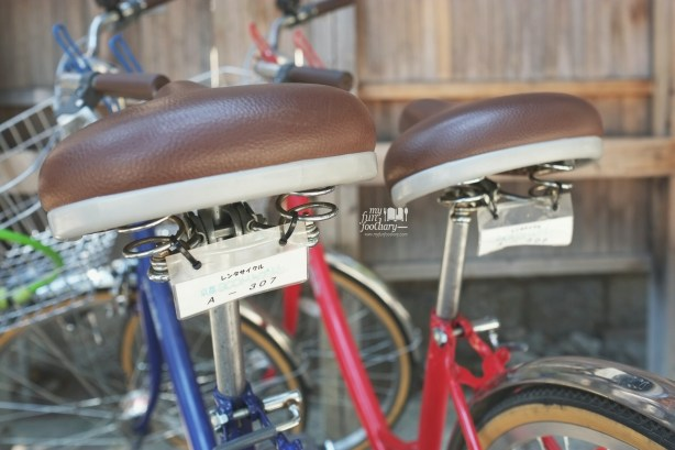 Our Bikes parked at the parking lot Kiyomizudera Temple by Myfunfoodiary