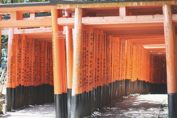 The Two Rows Parallel at Fushimi Inari Taisha by Myfunfoodiary