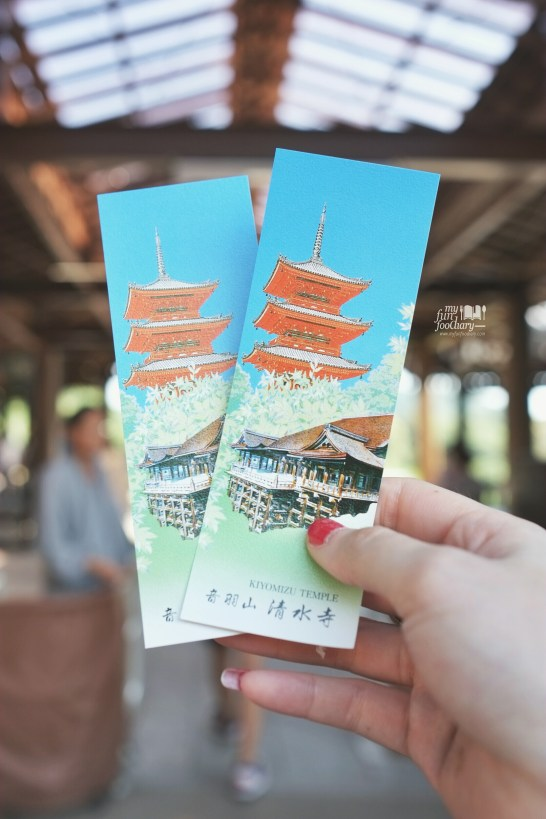 Tickets to Kiyomizudera Temple by Myfunfoodiary