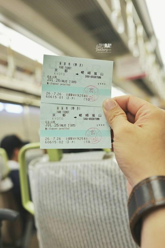 Train Ticket from Kyoto to Arashiyama by Myfunfoodiary