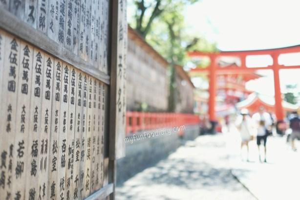 at at Fushimi Inari Taisha Kyoto by Myfunfoodiary
