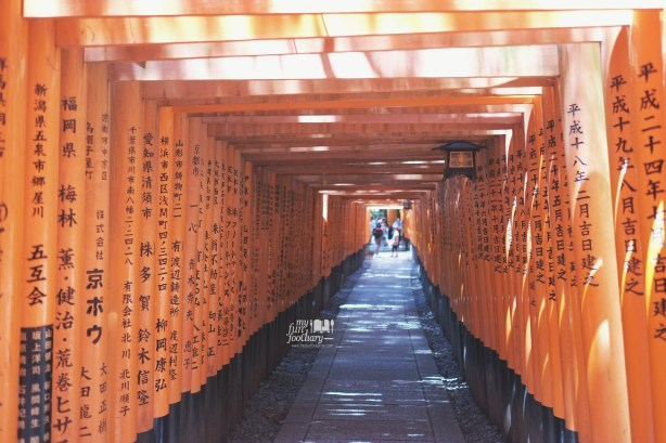 Torii Gates hiking trail at Fushimi Inari Taisha Kyoto by Myfunfoodiary