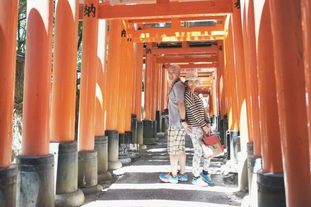 Both of us at Senbon torii Gates Fushimi Inari Taisha
