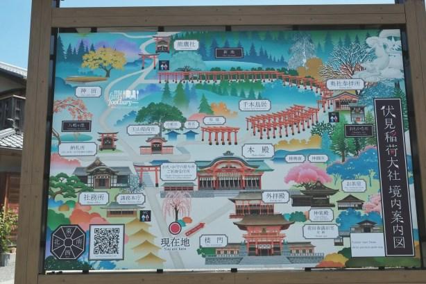 Overall Maps Fushimi Inari Taisha Kyoto - by Myfunfoodiary