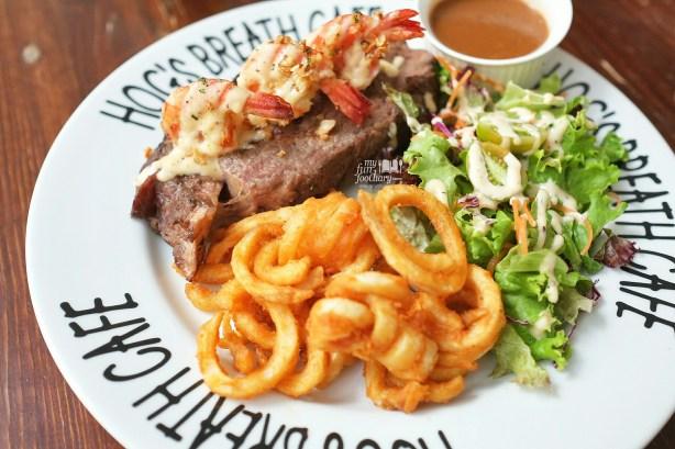 Garlic Prawn Prime Rib Steak at Hogs Breath Cafe by Myfunfoodiary 02