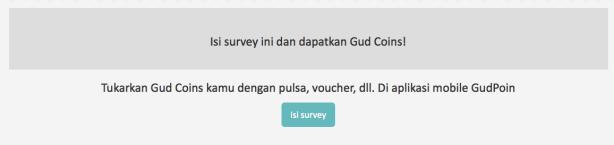 Isi Survey Myfunfoodiary on GudPoin