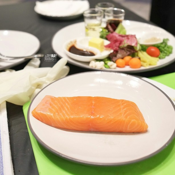 Salmon and Other Ingredients at our Cooking Class with Artotel Thamrin by Myfunfoodiary