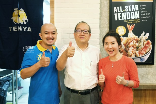 Together with Mr Yasuhiru - President of Tenya Tendon Japan by Myfunfoodiary
