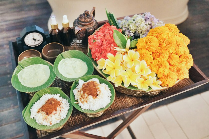 A Basket Full of Seven Balinese Flowers at DaLa Spa by Myfunfoodiary