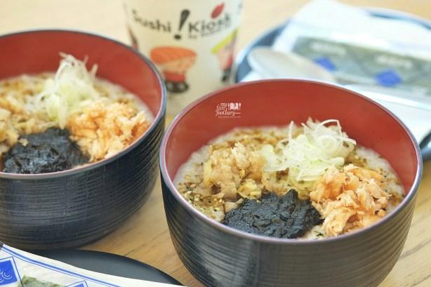 Okayu Salmon Japanese Porridge at Sushi Kiosk by Sushi Tei - by Myfunfoodiary